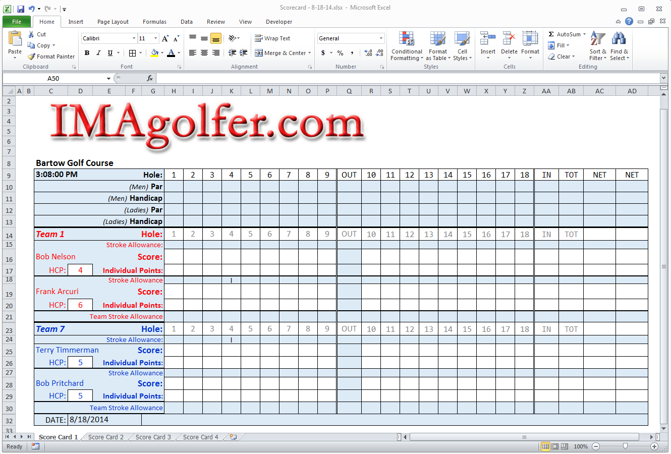golf tournament budget template - golf league management website